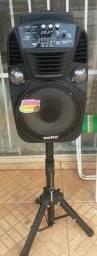Vendo caixa de som pega bluetooth pemdaive cartão microfone controle