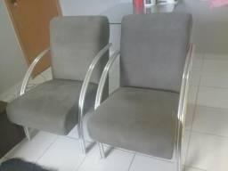 Cadeiras estofada