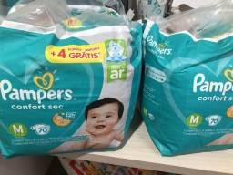 Troco 2 pacotes pampers comfort sec M por G