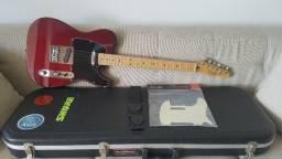 Telecaster Fender Mexicana + Case + Escudo Extra Original Fender + Correia