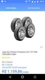 Pneu Carro Aro 15 Goodyear Bridgestone Firestone