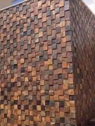 Pedra Ferro Basalto Ferrugiminoso Mosaico Xadrez 3D Parede Promoção DoMeuGosto