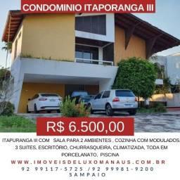 Itapuranga III com sala para 2 ambientes , cozinha com modulados - para aluguel