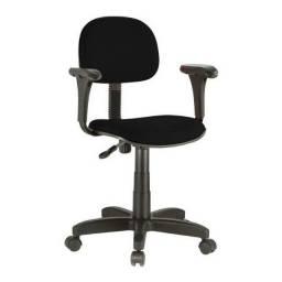 Cadeira secretária giratória , estofada laminada reta tecido,c/ braços