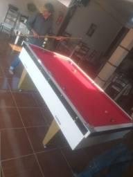 Mesa Gaveta Semi Oficial Cor Branca Tecido Vermelho Mod. LWGW4181
