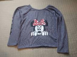 Blusas manga comprida Minnie