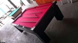 Mesa Gaveta de Bilhar Cor Preta Tecido Vermelho Mod. VMOK5365