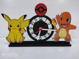 Relógio de mesa pokémon