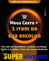 Super Novembro Mega Cesta com 63 produtos