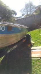Conjunto barco com 2 motores, bateria e carretinha, o mais completo da categoria