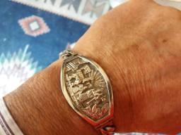 Pulseira bracelete Prata Andina Masculina