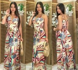 Lindo vestido longo, envelope transpassado ,alça regulavel com borjo