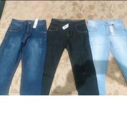 Vendo ou troco 3 calças Jeans Novas Juvenil Masculina