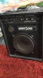 Caixa wattsom para violão e guitarra instrumentos