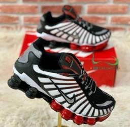 Tênis Nike 12 MOLAS branco/preto (PROMOÇÃO)