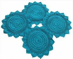 Título do anúncio: Sousplat em Crochê Verde 39cm (Jogo c/ 4 peças)