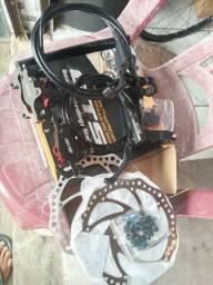 Kit freio a óleo completo, com a bomba de encher pneus !