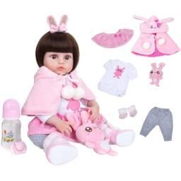 Título do anúncio: Bebê Reborn corpinho inteiro de vinil silicone pronta entrega