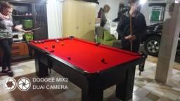 Título do anúncio: Mesa Charme Carlin Bilhares Tecido Vermelho Mod. 480BB5RM