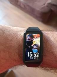 NOVO! Relógio Smartwatch Honor Band 6 com função de colocar foto na tela e oxímetro!