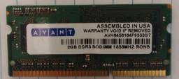 Memória Notebook DDR3 2GB e PC2 1GB