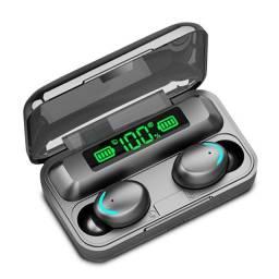 Fone de ouvido sem fio F9 - bluetooth c/ powerbank [ aguardando estoque]