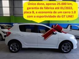 Título do anúncio: Renault Sandero Gt line 1.0 único dono, apenas 25.000 km, garantia de fábrica!