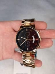 Título do anúncio: Relógio Nibosi Dourado Aço 2309/1985 Original Luxo Relógio Masculino A Prova De Água