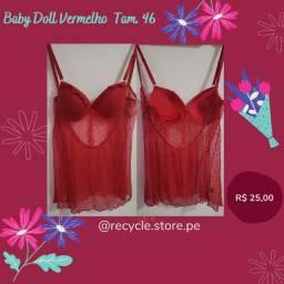 Bazar Baby Doll vermelho tam 46