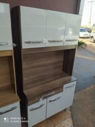 Armário de cozinha 6 portas 1 gaveta novo kit Cleo