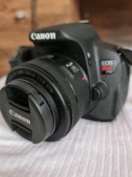 Canon t5i + Lente 55mm + bolsa