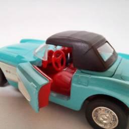 Miniatura Corvette 1957 com Capota Carrinhos Coleção escala 1/32
