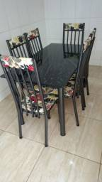 Mesa tubular 6 cadeiras