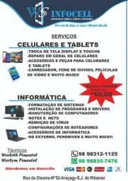 Troca de tela display e touch de celular e tabletes comprar usado  São Luís
