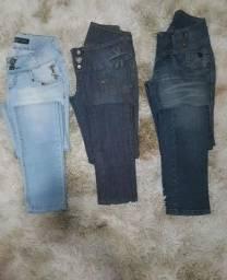 Calças femininas jeans de marca. 34/36