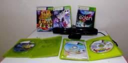 Kit Kinect mais 06 jogos originais de Xbox 360