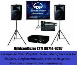 Locação de Projetor (Data Show) Telão, Microfone sem fio e som