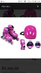 Kit Rollers Radical Ajustável Rosa