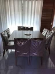 Sala de jantar - Mesa de jantar - Mesas e cadeiras - sala 8 cadeiras