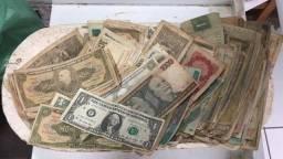 Cédulas e moedas antigas 3 por 10,00