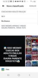 Cuecas box adulto p, m,g,gg apenas 9 reais