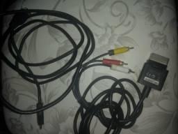 Cabo hdmi e cabo de audio e video xbox 360