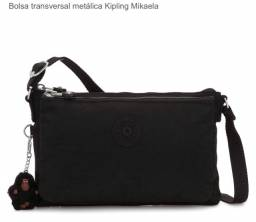 Bolsa transversal Kipling Mikaela preta NOVA