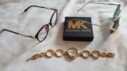 Kit armação + relógio + óculos de sol
