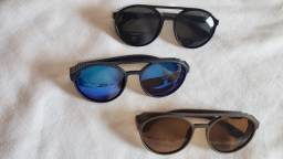 Kit 3 óculos retrô steampunk