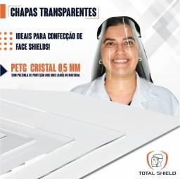 Chapa PETG 0,50mm 2mt X 1mt Transparente Cristal