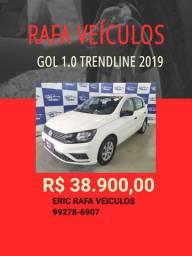 Feirão Rafa Veículos!!! Gol 1.0 Trendline 2019 R$ 38.900,00 - Eric Rafa Veículos - hjiy