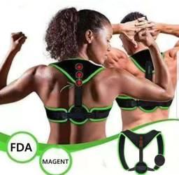 Corretor postura 3 imãs magneticos colete Cinta academia