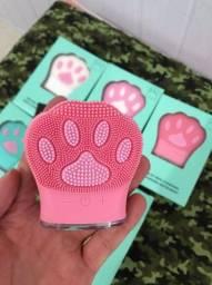 Massageador Esponja De Limpeza Facial Elétrico Patinha de Gato Cat