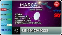 Título do anúncio: Instalação Antenas (Técnico)